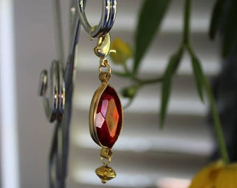 Zipper Pull Fob Acrylic Crystal