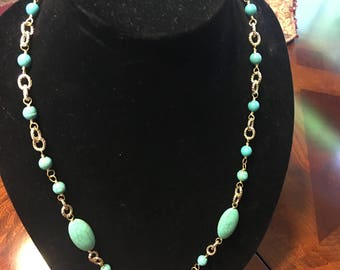 Aqua necklace & Earrings