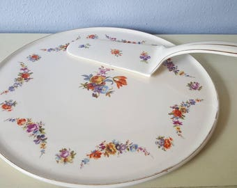Vintage cake plate and server made in Germany