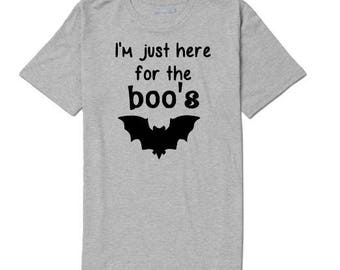 Here for the Boo's Booze Funny Unisex T Shirt Many Sizes Colors Custom Horror Halloween Merch Massacre