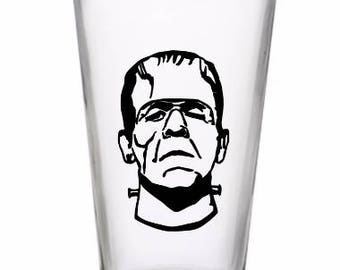 Frankenstein Monster Drinking Horror Pint Wine Glass Tumbler Alcohol Drink Cup Barware Halloween Scary Merch Massacre