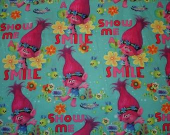 Trolls Fabric - Poppy Fabric - Dreamworks Trolls - Springs Creative - Trolls - Poppy