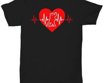 Salsa Dancing Heartbeat Tee Shirt - Dancer T Shirt