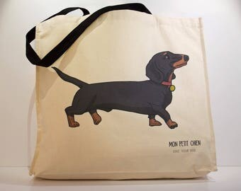 Dachshund shopping bag - Tote bag for Dog lovers