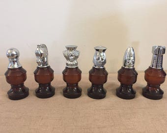 Avon Aftershave Chess Set, All Full, Original Boxes, King, Queen, Bishop, Rook, Pawn, Knight
