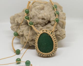 Aventurine pendant necklace