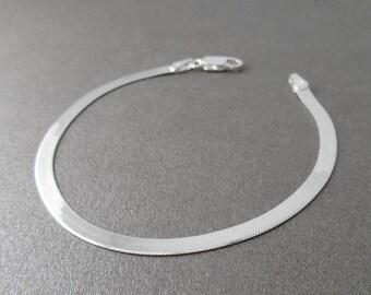 Bracelet chain flat mirrored Silver 925/1000