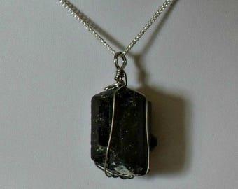 Black Tourmaline Necklace,Tourmaline Necklace,Black Crystal Necklace Pendant,Black Crystal Jewelry,Protection Crystal Necklace,Black Pendant