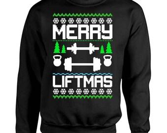 Merry Liftmas Ugly Christmas Sweater pullover sweatshirts