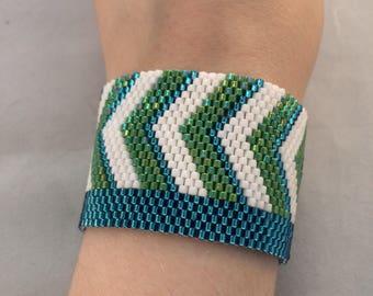 Chevron Shimmer Bracelet