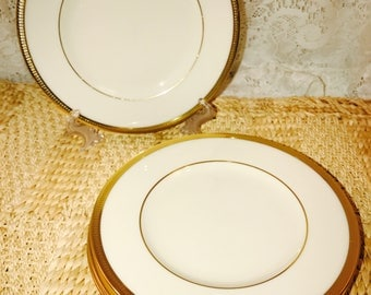 Lenox Tuxedo Bread and Butter Plates And Saucers - Gold Backstamp