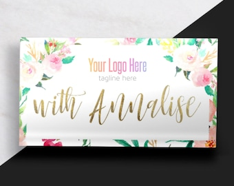 Boutique Business Card // Floral and Gold Business Card // Feminine Business Card // Fashion Consultant Business Card