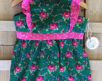 "Green Goralski ""Tybet"" Infant Girl Lucia Dress"