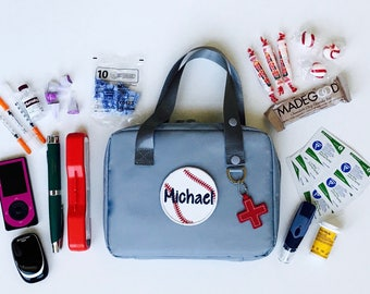 Type 1 Diabetes/Epipen Case/Epi Carrier/Epipen Bag/Medicine Bag/Asthma Bag/Diaper Bag/Diabetes Supply Bag/Diabetic Supplies Bag/First Aid