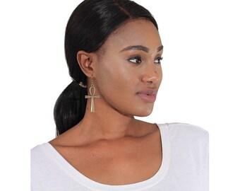 Vintage Ankh Earrings