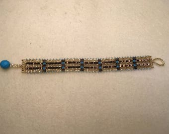 Handmade weave herringbone bracelet