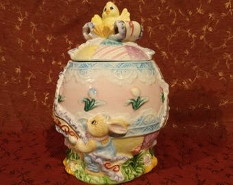 Adorable Ornate Easter Egg Dish