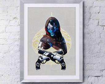Destiny Inspired Cayde-6 Ace of Spades Print