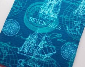 Sea map book sleeve