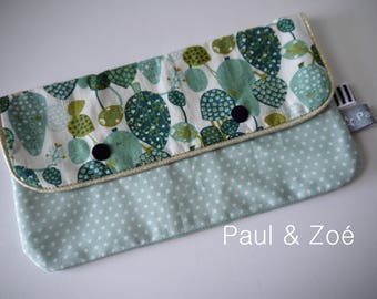 new - large clutch, mint Green