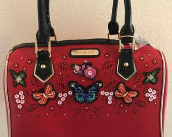 Butterfly red purse
