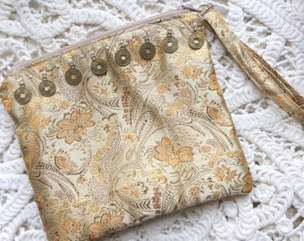Coin Silk Clutch