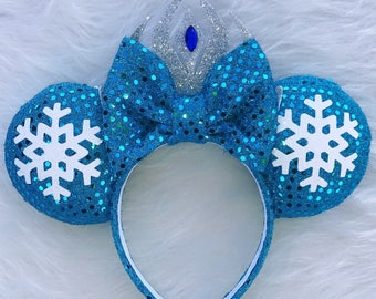 Elsa Frozen Mickey Ears- Elsa Disney Ears