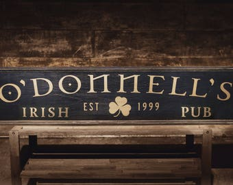 Personalized IRISH PUB Sign with Your Last Name, Personalized Bar Sign, Vintage Bar Sign, Custom Bar Signs, Tavern Sign, Custom Beer Sign