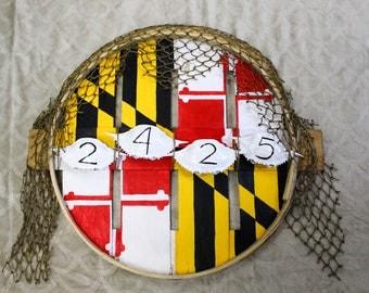 crab basket wreath
