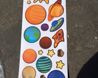 Astronomy Solar System Wall Decals for Kids Room