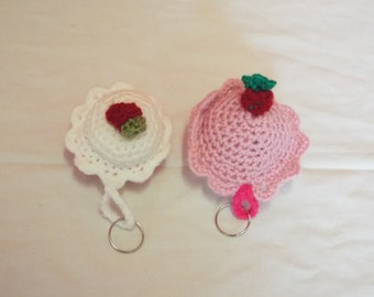 Delicious cake key rings