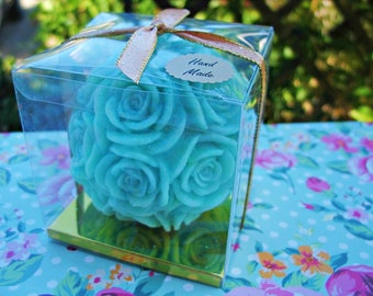 Paraffin Candle/Beautiful Candle/Green Candle/Rose Carved Candle