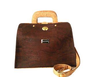 Woman Cork shoulder bag / Cork purse.