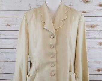 Vintage 1940s Linen Jacket