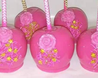Candy Apples with Rose & Sprinkles