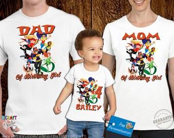 DC Superhero birthday family shirt, DC Superhero custom Birthday shirt D064