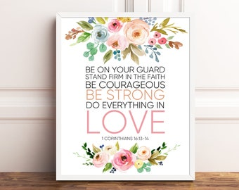 Christian wall art scripture wall art scripture signs, scripture prints, bible verse wall art, bible prints, bible art, be on your guard