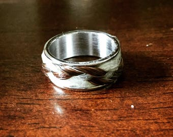 Horse Hair Ring, size 6