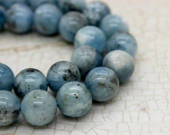 Aquamarine Round Gemstone Beads (8mm 10mm 12mm)