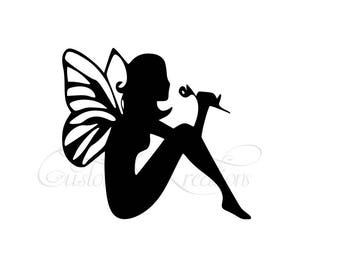 Sitting Flower  Fairy   SVG File