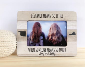 Best Friend Frame Best Friend Personalized Gift Soul Sisters Frame Just a Brunette and a Blonde Frame Blonde Brunette Frame