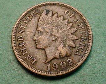 Indian Head Cent 1902 Fine<> FREE SH to United States<> # ET3419