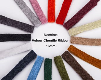 Pure Chenille Yarn, Ribbon Trimming,Texture Velour Handle, Curtain, Quality Fabric and Material, Sewing and Crafts, Neotrims Textiles