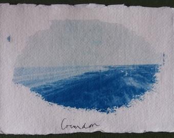 Crimdon Cyanotype Postcard