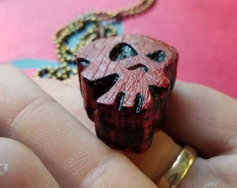 pauduk wood skull necklaces. skulls,pendnats,wood,charms