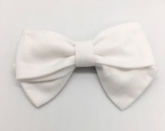 True White Mini Hand Tied Bow