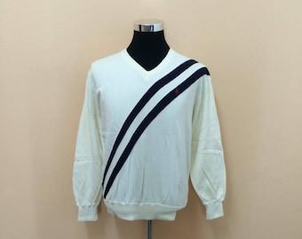 Vintage 90's Polo Ralph Lauren V-Neck Sweatshirt Nice Design
