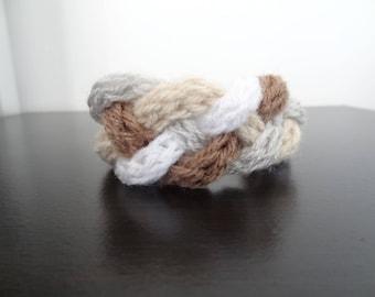 Woolen braided bracelet