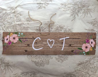 Wedding directional personalized sign