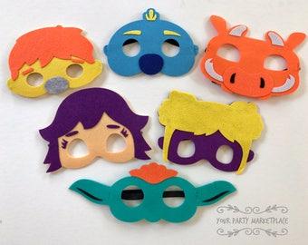 SET OF 6 Wallykazam Party Masks, Wallykazam Party, Wallykazam Birthday, Wallykazam Party Decorations, Wallykazam Party Favors, Wally Kazam